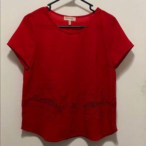Poppy Red top